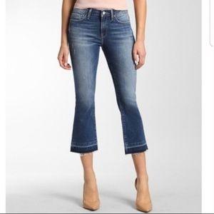 Mavi Distressed Anika Mid-Rise Crop Flare Jeans